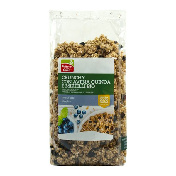 Crunchy con avena quinoa e mirtilli bio