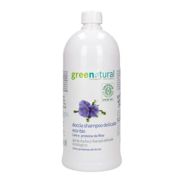 Doccia shampoo delicato eco-bio LINO e RISO