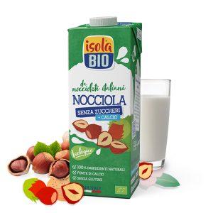 Latte di NOCCIOLA senza zuccheri + calcio 1l