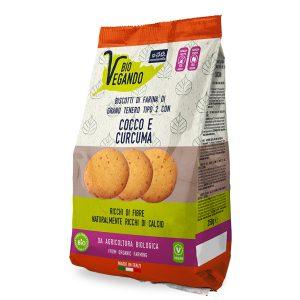 Biscotti con cocco e curcuma