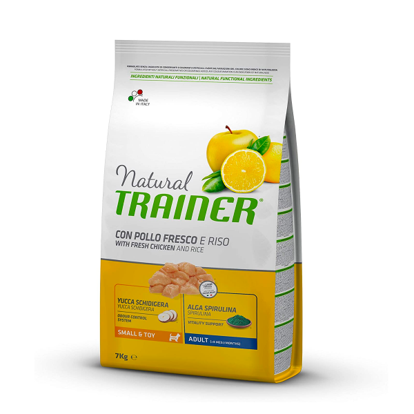 Natural trainer con pollo fresco e riso